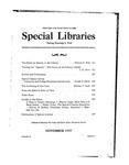 Special Libraries, November 1937