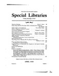 Special Libraries, April 1938 by Special Libraries Association