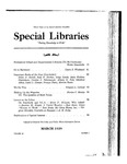 Special Libraries, March 1939