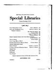 Special Libraries, September 1939