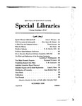 Special Libraries, October 1939