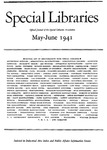 Special Libraries, May-June 1941 by Special Libraries Association