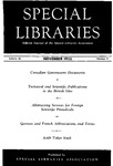 Special Libraries, November 1952 by Special Libraries Association