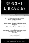Special Libraries, March 1953 by Special Libraries Association