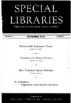 Special Libraries, November 1953