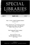 Special Libraries, March 1955 by Special Libraries Association