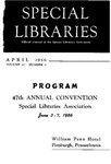 Special Libraries, April 1956