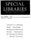 Special Libraries, October 1956 by Special Libraries Association