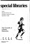 Special Libraries, January 1982 by Special Libraries Association