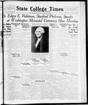 State College Times, February 24, 1932