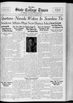 State College Times, November 8, 1932 by San Jose State University, School of Journalism and Mass Communications