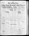 State College Times, October 12, 1933 by San Jose State University, School of Journalism and Mass Communications