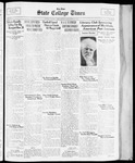 State College Times, November 24, 1933 by San Jose State University, School of Journalism and Mass Communications
