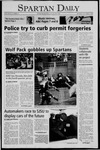 Spartan Daily, October 3, 2005 by San Jose State University, School of Journalism and Mass Communications