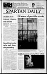 Spartan Daily, September 10, 2002 by San Jose State University, School of Journalism and Mass Communications