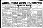 Spartan Daily, January 21, 1949 by San Jose State University, School of Journalism and Mass Communications