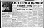 Spartan Daily, February 21, 1949 by San Jose State University, School of Journalism and Mass Communications
