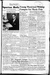 Spartan Daily, May 8, 1950 by San Jose State University, School of Journalism and Mass Communications