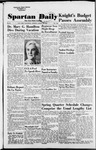 Spartan Daily, March 29, 1954 by San Jose State University, School of Journalism and Mass Communications