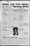 Spartan Daily, October 14, 1954 by San Jose State University, School of Journalism and Mass Communications