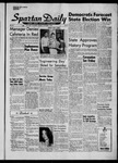 Spartan Daily, November 3, 1958 by San Jose State University, School of Journalism and Mass Communications