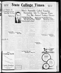 State College Times, October 30, 1931 by San Jose State University, School of Journalism and Mass Communications