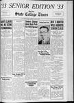 State College Times, June 9, 1933 by San Jose State University, School of Journalism and Mass Communications