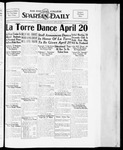 Spartan Daily, April 12, 1934 by San Jose State University, School of Journalism and Mass Communications