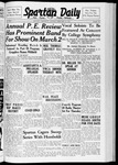 Spartan Daily, February 28, 1938 by San Jose State University, School of Journalism and Mass Communications