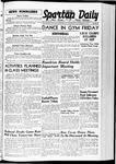 Spartan Daily, November 29, 1939 by San Jose State University, School of Journalism and Mass Communications