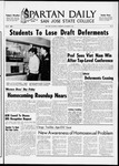 Spartan Daily, November 3, 1965 by San Jose State University, School of Journalism and Mass Communications