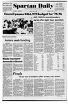 Spartan Daily, May 16, 1975 by San Jose State University, School of Journalism and Mass Communications
