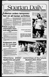Spartan Daily, November 2, 1981 by San Jose State University, School of Journalism and Mass Communications