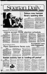 Spartan Daily, November 5, 1981 by San Jose State University, School of Journalism and Mass Communications