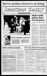 Spartan Daily, November 1, 1982 by San Jose State University, School of Journalism and Mass Communications