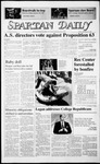 Spartan Daily, September 26, 1986 by San Jose State University, School of Journalism and Mass Communications