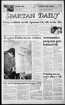 Spartan Daily, November 5, 1986 by San Jose State University, School of Journalism and Mass Communications