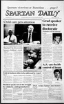Spartan Daily, April 9, 1987 by San Jose State University, School of Journalism and Mass Communications