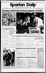 Spartan Daily, November 1, 1988 by San Jose State University, School of Journalism and Mass Communications