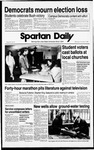 Spartan Daily, November 9, 1988 by San Jose State University, School of Journalism and Mass Communications
