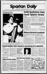 Spartan Daily, February 20, 1989 by San Jose State University, School of Journalism and Mass Communications