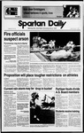 Spartan Daily, March 3, 1989 by San Jose State University, School of Journalism and Mass Communications