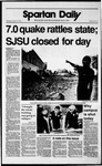 Spartan Daily, October 18, 1989 by San Jose State University, School of Journalism and Mass Communications