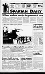 Spartan Daily, November 3, 1994 by San Jose State University, School of Journalism and Mass Communications