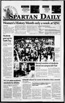 Spartan Daily, March 2, 1995 by San Jose State University, School of Journalism and Mass Communications