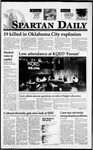 Spartan Daily, April 20, 1995 by San Jose State University, School of Journalism and Mass Communications