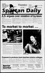 Spartan Daily, October 3, 1996 by San Jose State University, School of Journalism and Mass Communications