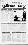 Spartan Daily, November 11, 1996 by San Jose State University, School of Journalism and Mass Communications