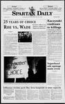 Spartan Daily, January 23, 1998 by San Jose State University, School of Journalism and Mass Communications