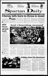Spartan Daily, December 4, 2000 by San Jose State University, School of Journalism and Mass Communications
